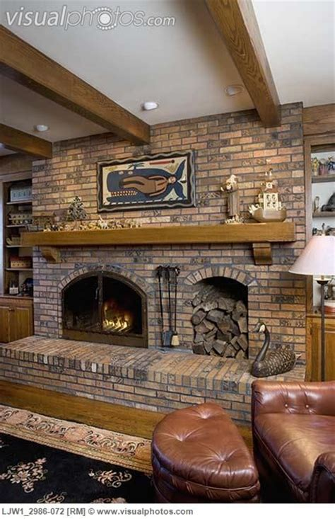 fireplace  wood box fireplaces raised hearth brick