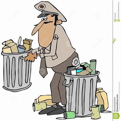Garbage Picking Trash Illustration Uniform Illustrations Clip