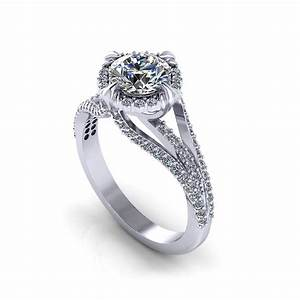 Unique halo engagement ring jewelry designs for Custome wedding rings