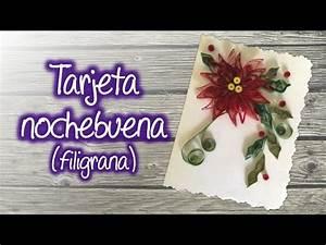 how to make a poinsettia flower out of paper tarjeta navideña con nochebuena de filigrana christmas