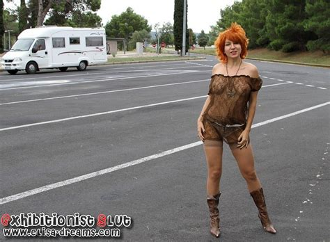 Nude in public on a rest area by Elisa Dreams - XVIDEOS.COM