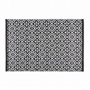 tapis de jardin motifs noirs et blancs 140x200cm corolia With tapis pour jardin