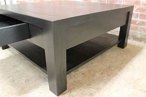 square parsons style coffee table ecustomfinishes With square parsons coffee table