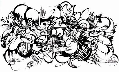 Graffiti Coloring Pages Adults Sans Printable Characters