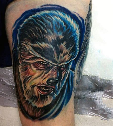 werewolf tattoo designs  men full moon folklore