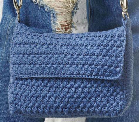 blue envelop bag  crochet crochet kingdom