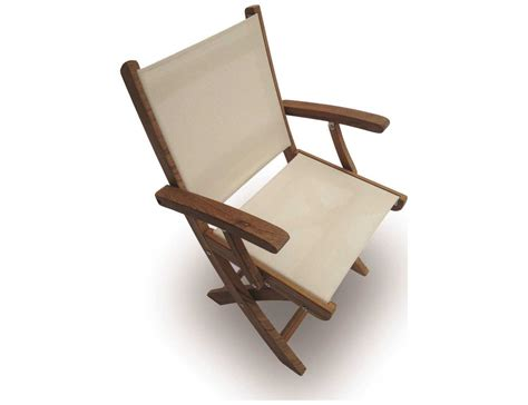 royal teak collection sailmate white sling folding dining