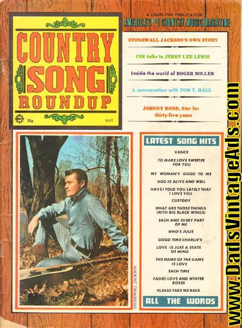 Country Magazine by 1969 May Country Song Roundup Magazine Back Issue Misc