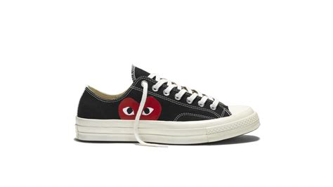 converse ox low black converse and comme des garcons announce new play