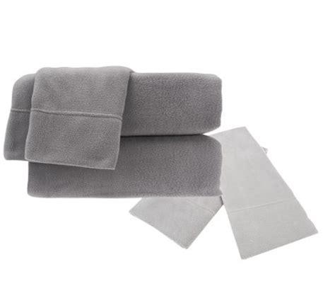 malden mills polar fleece qn sheet set w extra contrast