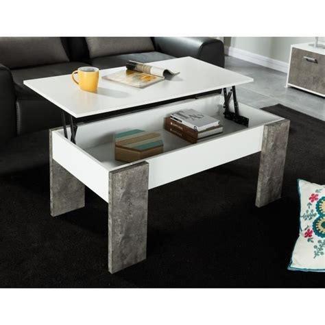 Sherlock Table Basse Plateau Relevable Style Contemporain