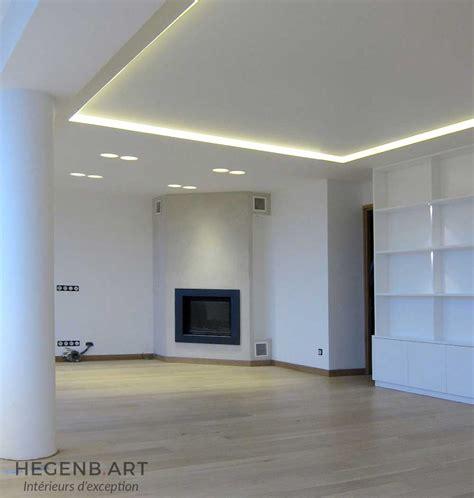 atelier du menuisier cuisine hegenbart plafond lumineux avec éclairage led encastré