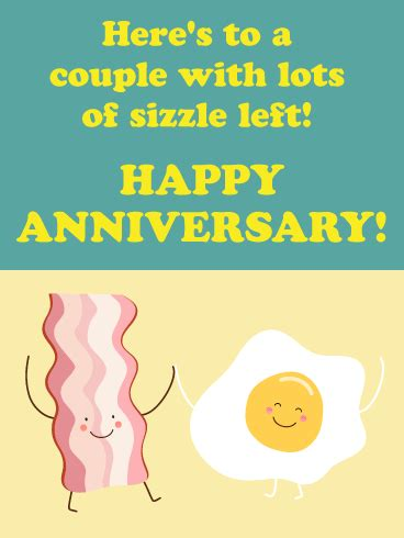 match couple funny anniversary card