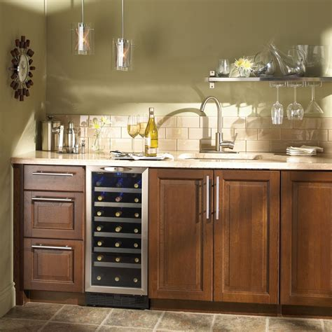 under cabinet wine fridge kitchen wine coolers inch under counter wine cooler