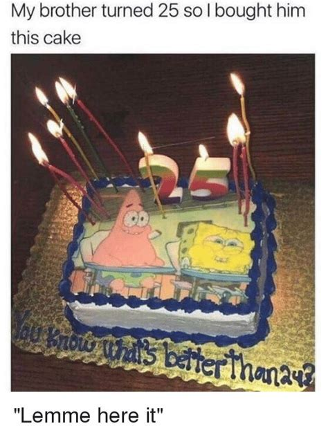My Brother Turned 25 So I Bought Him This Cake   SpongeBob