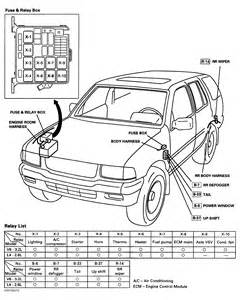 similiar fuse box 2001 passport keywords motor as well 1984 ford falcon on 95 isuzu rodeo fuse box diagram