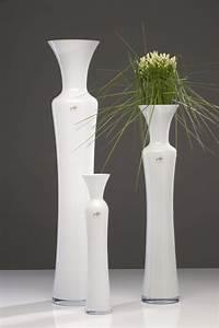 Bodenvase Weiss 80 Cm : glasvase silhouette glas vase bodenvase blumenvase milchglas wei 80 cm ebay ~ Bigdaddyawards.com Haus und Dekorationen