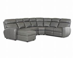 American made best reclining leather sectional ventana clp114 for Leather sectional sofa usa