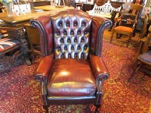 Vintage Chester Field Queen Anne Chair
