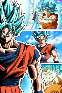 dragon ball super goku blue super saiyan god