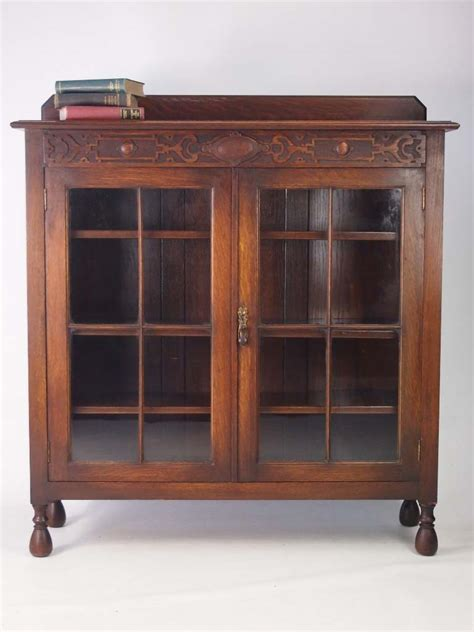 Oak Bookcase by Antique Edwardian Oak Bookcase