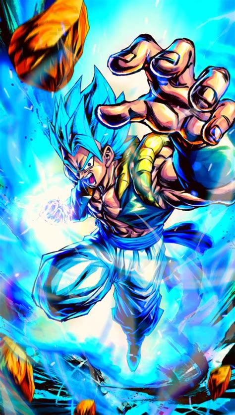 gogeta blue  wallpaper    credit  artist