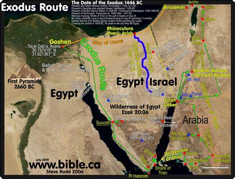 exodus route wilderness  sin manna quails sabbath
