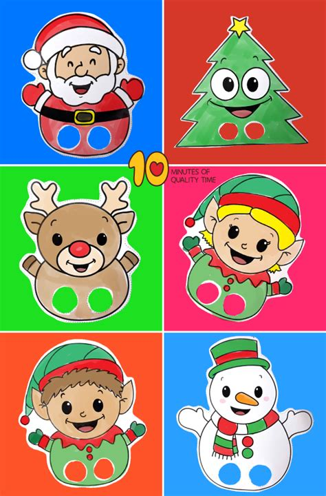 printable finger puppets  christmas  minutes