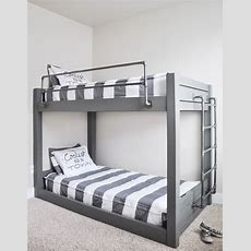 Diy Industrial Bunk Bed Free Plans  Jwb  Bunk Beds For
