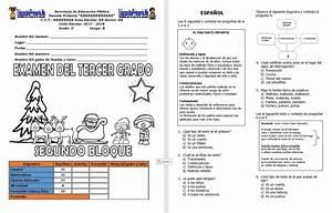 Examen del tercer grado del segundo bloque del ciclo escolar 2017 2018 Educación Primaria