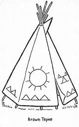 Coloring Teepee Patterns Printable Pages Books Templates Parade Quilt Beading Crafts Stencils Stitch Cross Craft Stencil Embroidery Painting Preschool Cabin sketch template