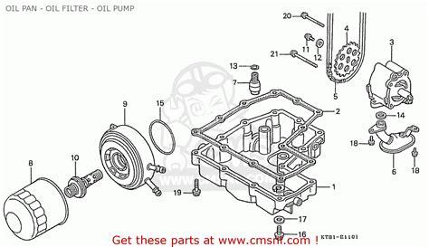 honda cbr400rrj nc23 domestic pan filter schematic partsfiche