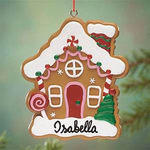 personalized gingerbread house ornament ornaments With gingerbread letter ornaments