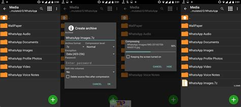 android zip zarchiver helps you to extract 7zip files using android
