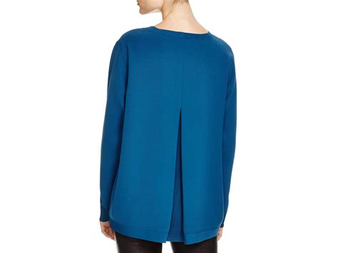 teal blouses vince inverted pleat blouse in teal lyst