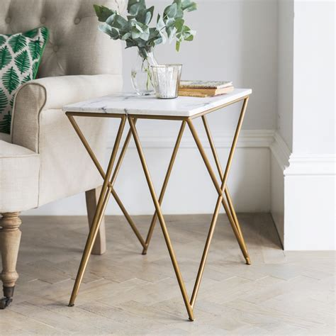 white marble table l stellar white marble side table