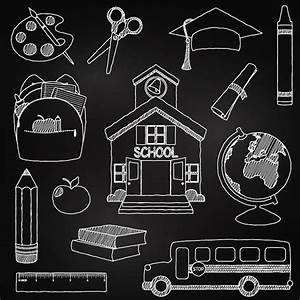 Chalkboard School Clipart Clip Art Chalk Board Teacher