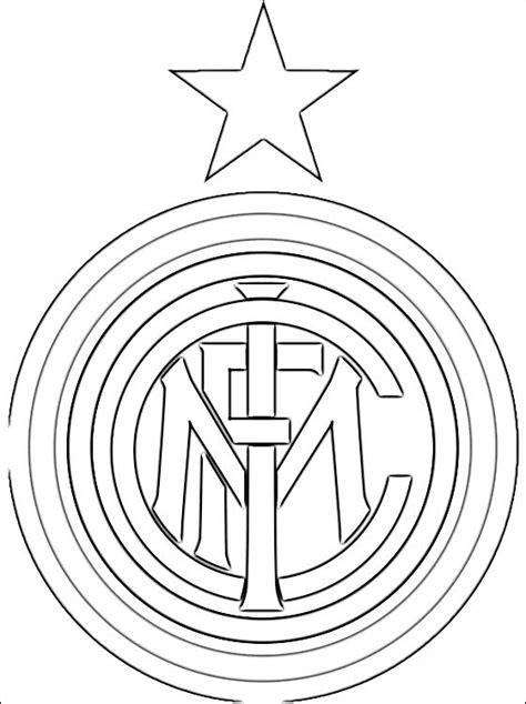 logo  inter milan football club coloring pages