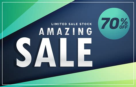 Sale Original amazing sale banner discount voucher design template