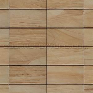 Stone texture 001: Sandstone wall cladding - Square Texture