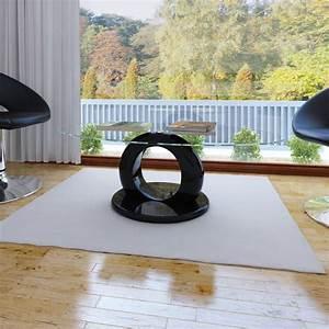 Couchtisch Rund Schwarz : couchtisch glasfaser hochglanz schwarz rund mit loch g nstig kaufen ~ Eleganceandgraceweddings.com Haus und Dekorationen