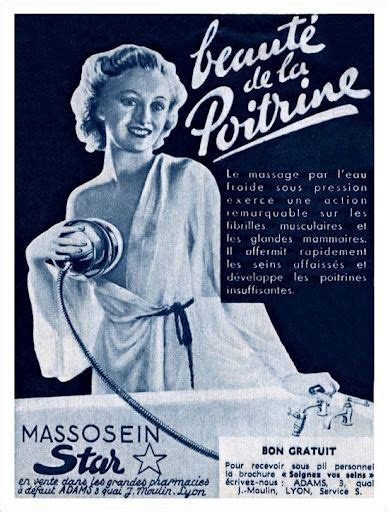 vintage french breast improver massage by cold water