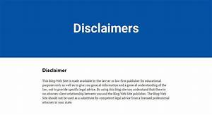 sample disclaimer template termsfeed With property disclaimer template