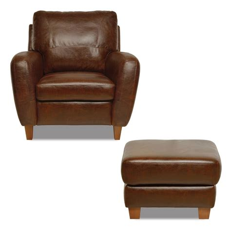 Real Leather Ottoman - new luke leather genuine italian made quot quot brown