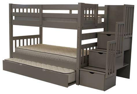 bedz king bedz king bunk beds twin over twin stairway