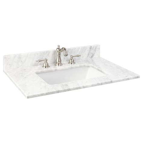 31 vanity top with sink 31 quot x 22 quot marble vanity top for rectangular undermount