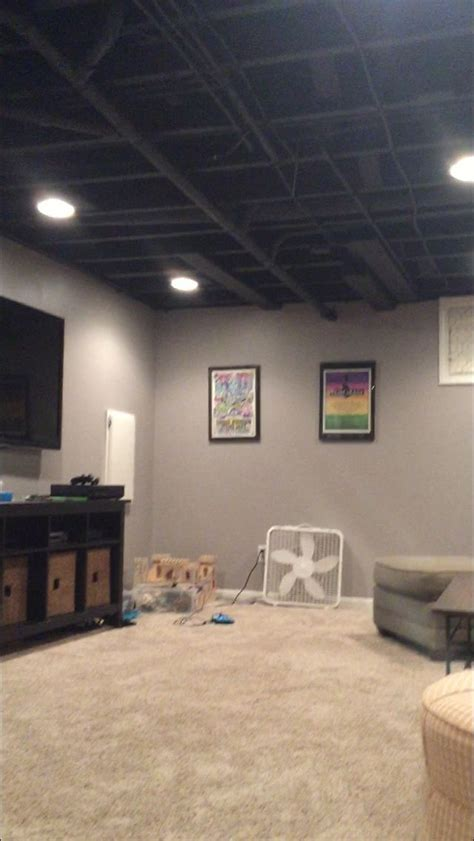 Paint for exposed ceiling in basement: Sherwin Williams