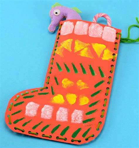 easy christmas paper sock favecrafts com