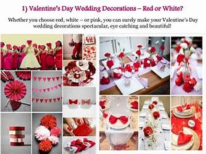 Ideas For a Valentine's Day Wedding Decorations