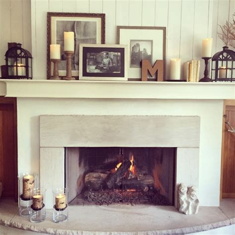 simple ways  decorate  fireplace mantle